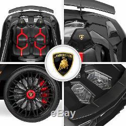 BCP 12V Kids Ride-On Lamborghini Aventador SV Car RC Toy with Horn, LED Lights