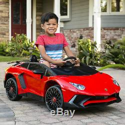 BCP 12V Kids Ride-On Lamborghini Aventador SV Sports Car Toy with Parent Control