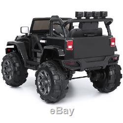 BCP 12V Kids Ride-On Truck Car Toy with 3 Speeds, LED Lights, Remote Control, Aux