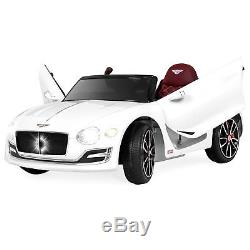 BCP 6V Kids Bentley Ride-On Car with Remote Control, 2 Speeds, AUX White