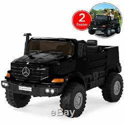 BCP Kids 24V 2-Seater Mercedes-Benz Ride-On Truck with 3.7 MPH, Lights, AUX Port