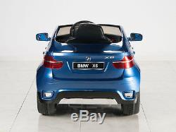 BMW X6 12V Kids Ride On Car Battery Power Wheels Toy Vehicle + RC Remote Blue