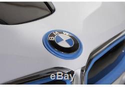 BMW i8 Ride On Kids Power Wheels Car RC Remote 6V White with Blue & Black Trim