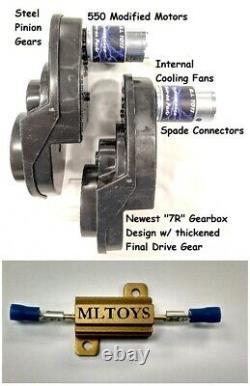 BRM + PAIR of Power Wheels Gearboxes & Motors for Mustangs SPEED TUNED