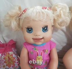 Baby Alive My Real Baby 2009 & Soft Face 2006 With Accessories Big Lot Of 25 Toy