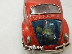 Bandai Japan Bump N Go Volkswagen Beetle VW Bug Battery Operated 10 Red 960