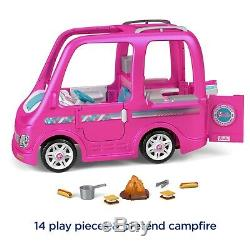 Barbie Dream Camper RV Power Wheels Battery Power Ride On Girls Car Pink Toy 12V