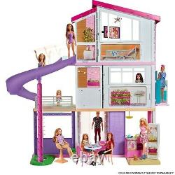 Barbie Estate DreamHouse Doll House Playset with 70+ Toys Accessories FHY73 NEW