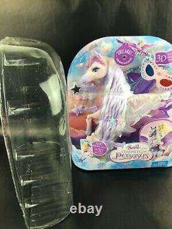 Barbie & the Magic of Pegasus Brietta Pegasus Purple Horse Toy Works OPEN BOX