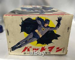 Batman vintage 1960s Battery Operated tin walker Nomura Toy litho Japanese RARE