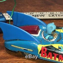 Batmobile Tin Litho Remote Control Aoshin Japan Vintage Asc Batman 1960s Dc