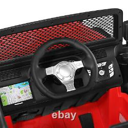Battery Operated Kids Ride On Car Truck Remote Control 12V LED Music Horn Red