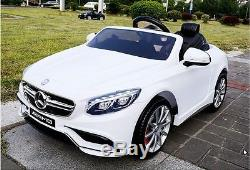Battery Operated Ride On Car Toy MERCEDES-BENZ S63 (model HL169) White