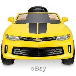 Battery Powered Car For Kids Ride On Toy 6V Electric Camaro Toddler Vehicle