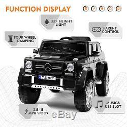 Black 12V Electric Kids Ride On Car Toy Mercedes-Benz USB MP3 LED Remote Control