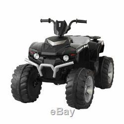 Black 12V Kids Ride On Car 4 wheels Electric ATV Quad Dune Buggy Beach Vehicle