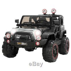 Black 12V Kids Ride on Cars Electric Battery Power Wheels Remote Control 2 Speed