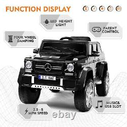 Black Electric Mercedes-Benz 12V Kid Battery Ride On Car Toy MP3 Remote Control