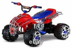 Boys Gift Outdoors Kids Ride On Motorcycle Electric Toy Spiderman Car 12V