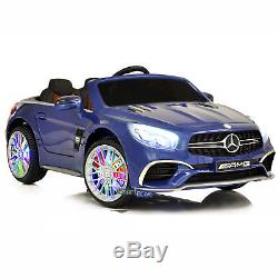 Car For Kids To Ride On Licensed Mercedes SL65 MP4 Touch Screen Horn RC MP3 Blue