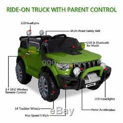 Child Kids Ride On Car Jeep 12V Electric Remote Control MP3 LED Light Toys Gift