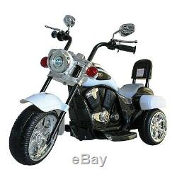 Chopper Style Electric Ride On Motorcycle For Kids 6v Battery Powered 3 Wheel