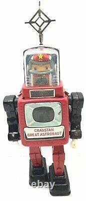 Cragstan Great Astronaut Robot Space Toy Tin Lithographed Battery Operated