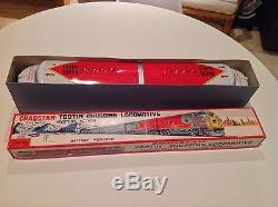 Cragstan Tootin' Chugging Locomotive Mint in Box Huge