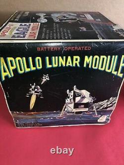 Daishin Apollo 11 Rare 1960s DSK EAGLE JAPANESE NASA BATTERY OPERATED TIN With Box