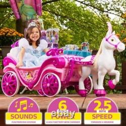 Disney Princess Royal Horse and Carriage Girls Ride-On Toy by Huffy New