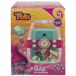 Dreamworks Trolls Disco Party Karaoke Machine Kids Toy/CD Player/Mic TV Display