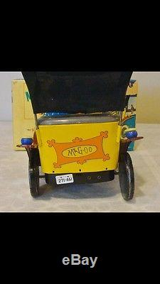 Early Hubley Toys Tin Litho B/O Mr. MaGoo Car 60s V RARE MINT IN BOX WORKS GREAT