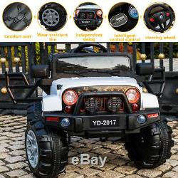Electric 12V 3 Speed Kids Ride on Car Remote Control Jeep Christmas Gift White