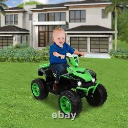 Electric 12V Kids ATV Ride On Toy Car Child Gift with 2 Speeds, LED Lights, Music