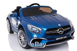 Electric 12V Kids RC Ride On Car with Radio Remote & MP3 Mercedes SL65 AMG Blue