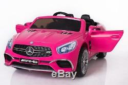 Electric 12V Kids RC Ride On Car with Radio Remote & MP3 Mercedes SL65 AMG Pink