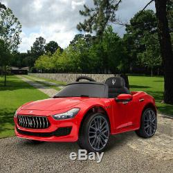 Electric 12V Kids Ride On Car Maserati Licenced Battery Power Remote Control Red