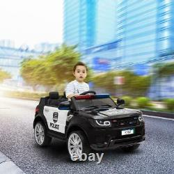 Electric 12V Kids Ride On Car Police SUV Truck Toys Battery Power Remote Control