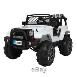 Electric 12V Kids Ride On Car Toys Jeep 4 Wheel Music Light Parent Remote Guide