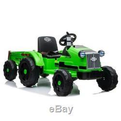 Electric 12V Kids Ride On Tractor Car Farm Truck, Big Trailer, Remote Control