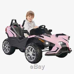 Electric 12V Kids Ride on Cars Battery Remote Control Light Truck Music Pink