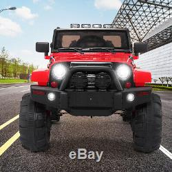 Electric Car Kids Ride On Truck Toy 12V Battery Powered WithRemote Control RC, Red