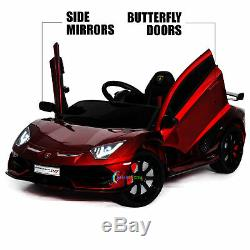 Electric Car Lamborghini 12V Ride On Toy For Kid Remote Control MP3 Lights Red