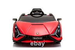 Electric Car with Remote Control For Kids 12V Battery USB Radio Touch Screen Red