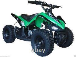 Electric Four Wheeler Kids ATV 24V Battery Green Mini Quad Ride On Electric Quad