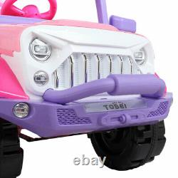 Electric Kids Ride On Car 12V Battery Powered SUV Style Remote Control RC Pink