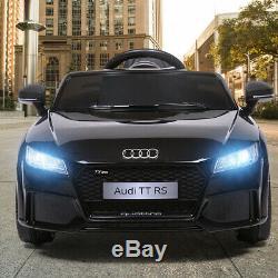 Electric Kids Ride On Car Licensed MP3 LED Lights RC Remote Control Black 12V