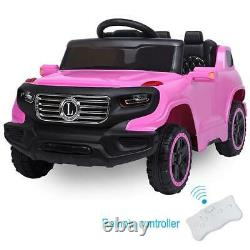 Electric Kids Ride On Car Toys Rechargeable With MP3 Light Remote Control Pink