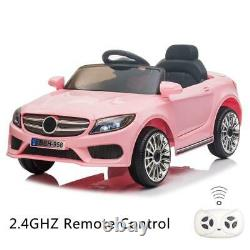Electric Kids Ride on Car 12V Motor Toys Gift Cars with Remote Control Music Pink