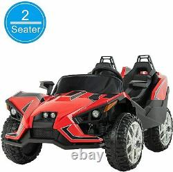 Electric Kids Ride on Toys 12V Battery Racing Car WithRC Light Truck Music Red